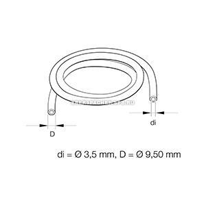 36075300 Шланг топливный резиновый армированный 3,5*9.5 mm