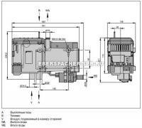 Hydronic D12W(M-II) дизель (12 В) размеры